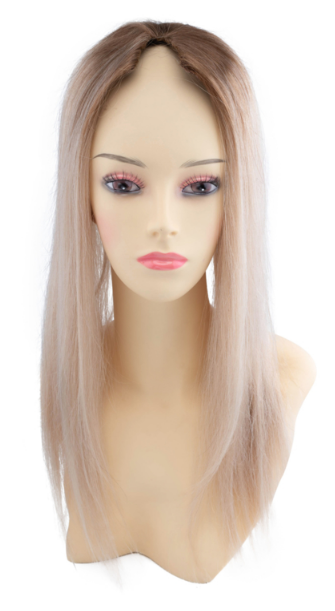 SilverFox Machine Made V-Part Clip-in #6/24 Light Chestnut Brown /Warm Light Blonde