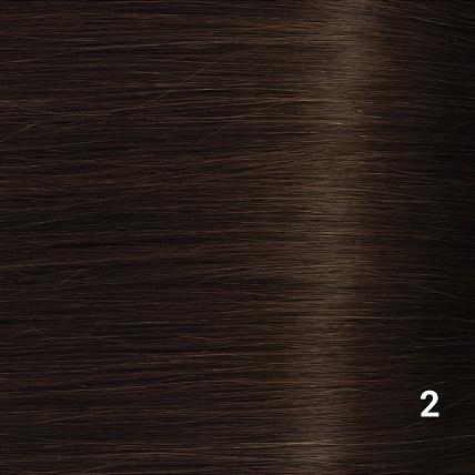 SilverFox Machine Made V-Part Clip-in #2 Deep Dark Brown