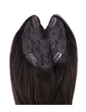 SilverFox Machine Made V-Part Clip-in #2 Deep Dark Brown