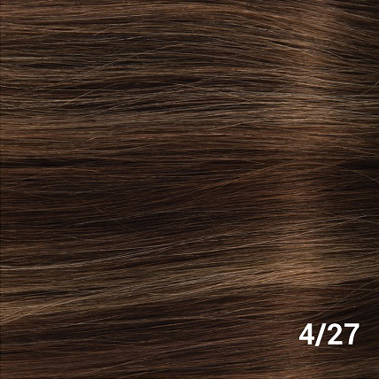 RedFox Clip-in Extensions - Body Wave - #4/27, Chocolate Brown/ Dark Blonde