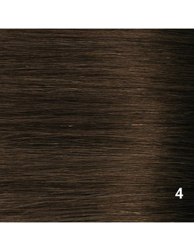SilverFox Tape Extensions Straight - #4 Chocolate Brown