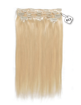 RedFox Clip-in Extensions - Straight - #613 Light Blonde