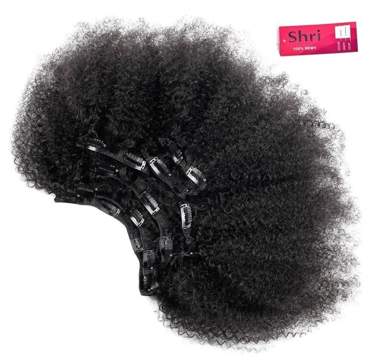 RedFox SHRI  Afro Kinky Clip-in 12''