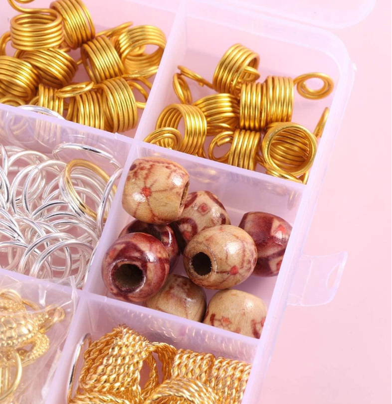 180 Stuks Haarkralen box /Hair beads box