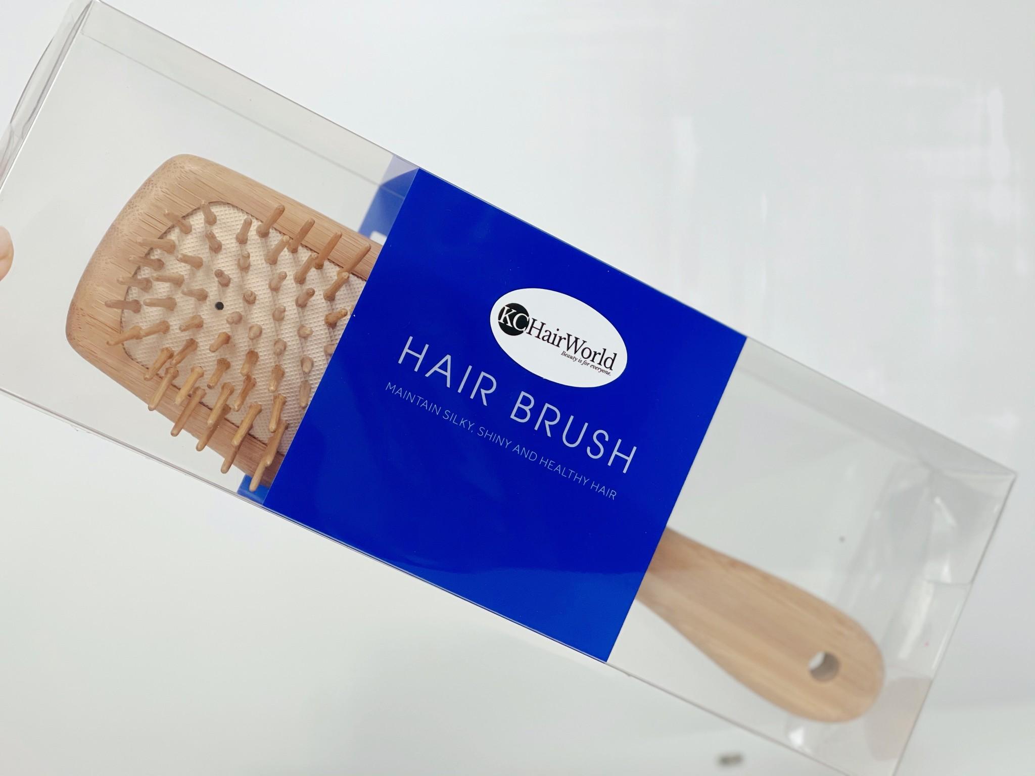 Antiklit Haarborstel Bamboe / Hairbrush for Massaging Scalp