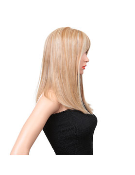 Synthetic fiber lace wig- Linda 16 INCH