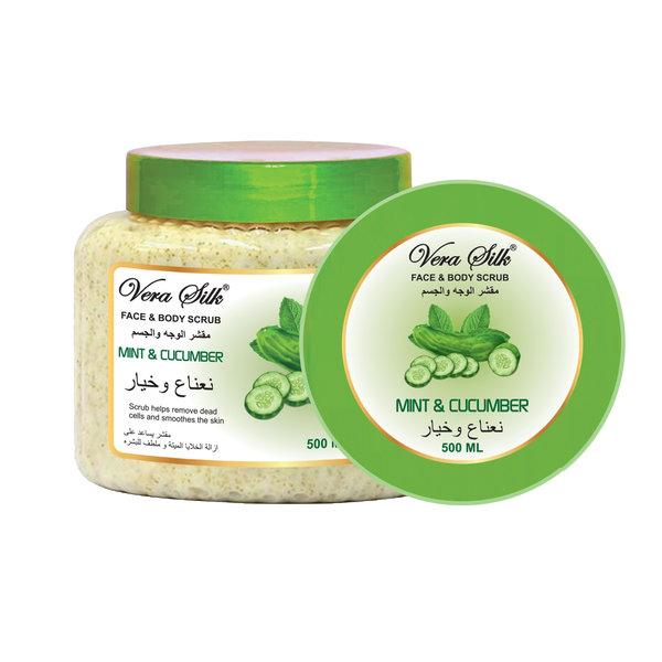 Vera Silk Face & Body scrub Mint & Cucumber 500 ml