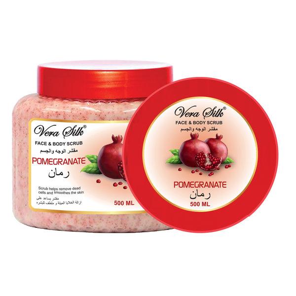 Vera Silk Face & Body scrub pomegranate  500 ml