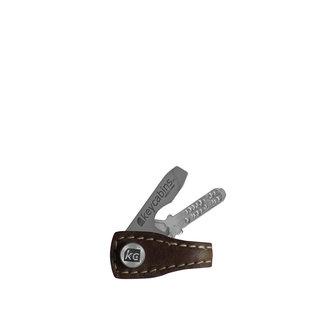 Mini Leder-loop brown dark