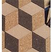 Kurk prikbord ruit - Country - zelfklevend - 30 x 17 cm - 6 stuks