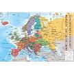 Kurk prikbord Europa landenkaart - 60 x 90 cm op multiplex of kurk