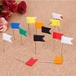 Vlagspelden - vlaggetjes punaises - 100 stuks Voordeelpak