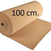 Prikwandkurk op rol 100 cm. breed