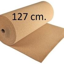 Prikwandkurk op rol 127 cm. breed