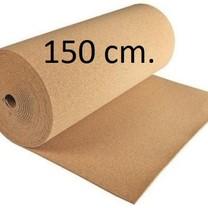 Prikwandkurk op rol 150 cm. breed