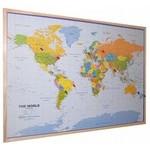 Wereldkaart prikbord en land en provinciekaarten