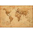 Kurk prikbord wereldkaart  op Ecoplex - ANTIEK - 60 x 90 cm