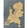 Zelfklevend kurk prikbord - Nederland kaart - 130 x 70 cm