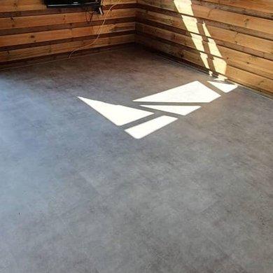 Kurkvloer met betonlook