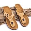 Kurk sandalen - slippers - naturel