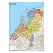 Kurk prikbord landkaart Nederland XL  - 100 x 140 cm op multiplex en kurk