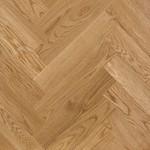 Kurkparket Visgraatvloeren met gezaagde houten toplaag