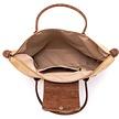 Kurk handtas - draagtas met groene accenten