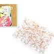 Push pins - Transparant Rose Gold - 100 stuks