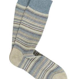 Marcoliani Marcoliani sokken beige gestreept