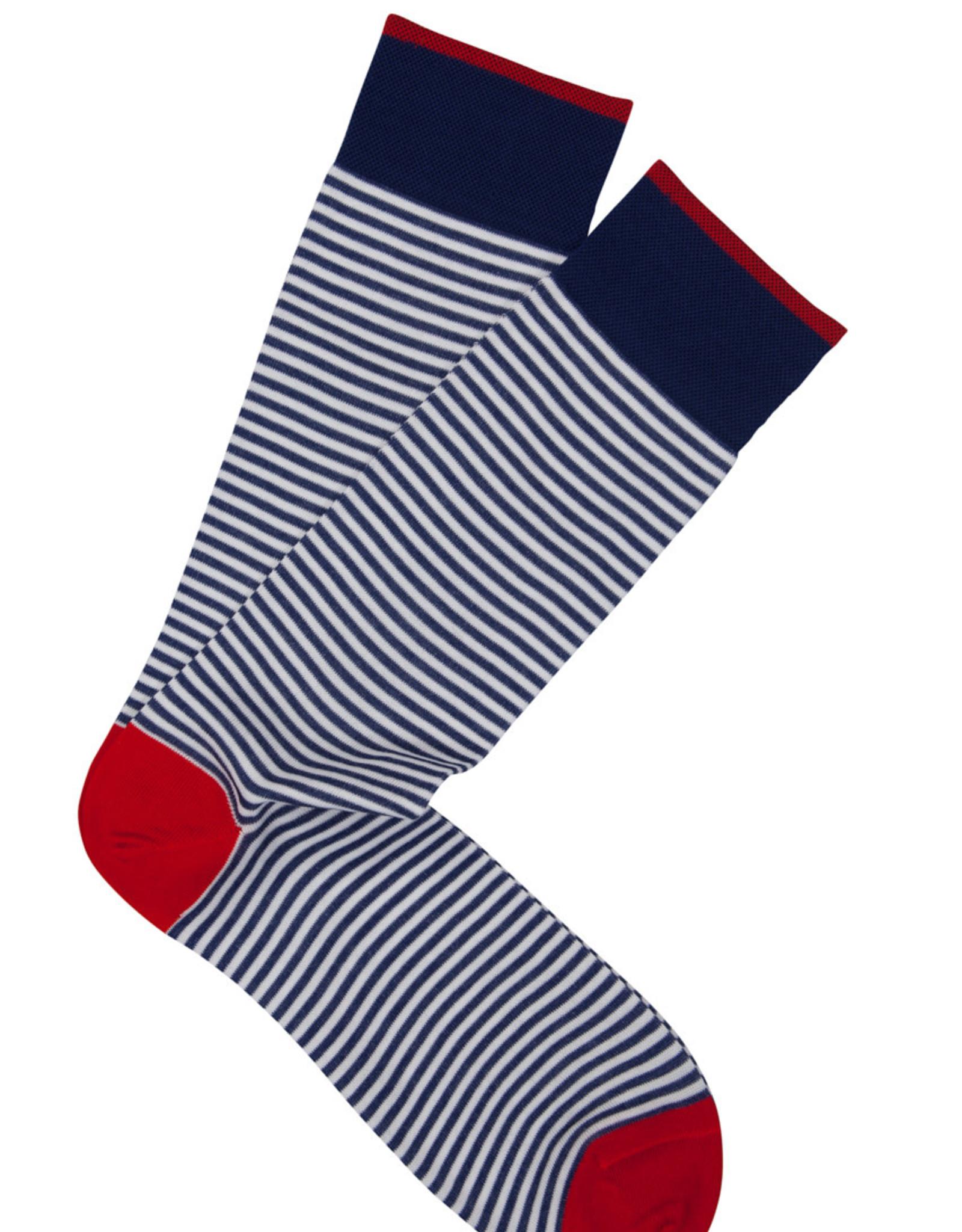 Marcoliani Marcoliani sokken blauw gestreept 3231T/008