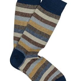 Marcoliani Marcoliani sokken blauw-beige gestreept