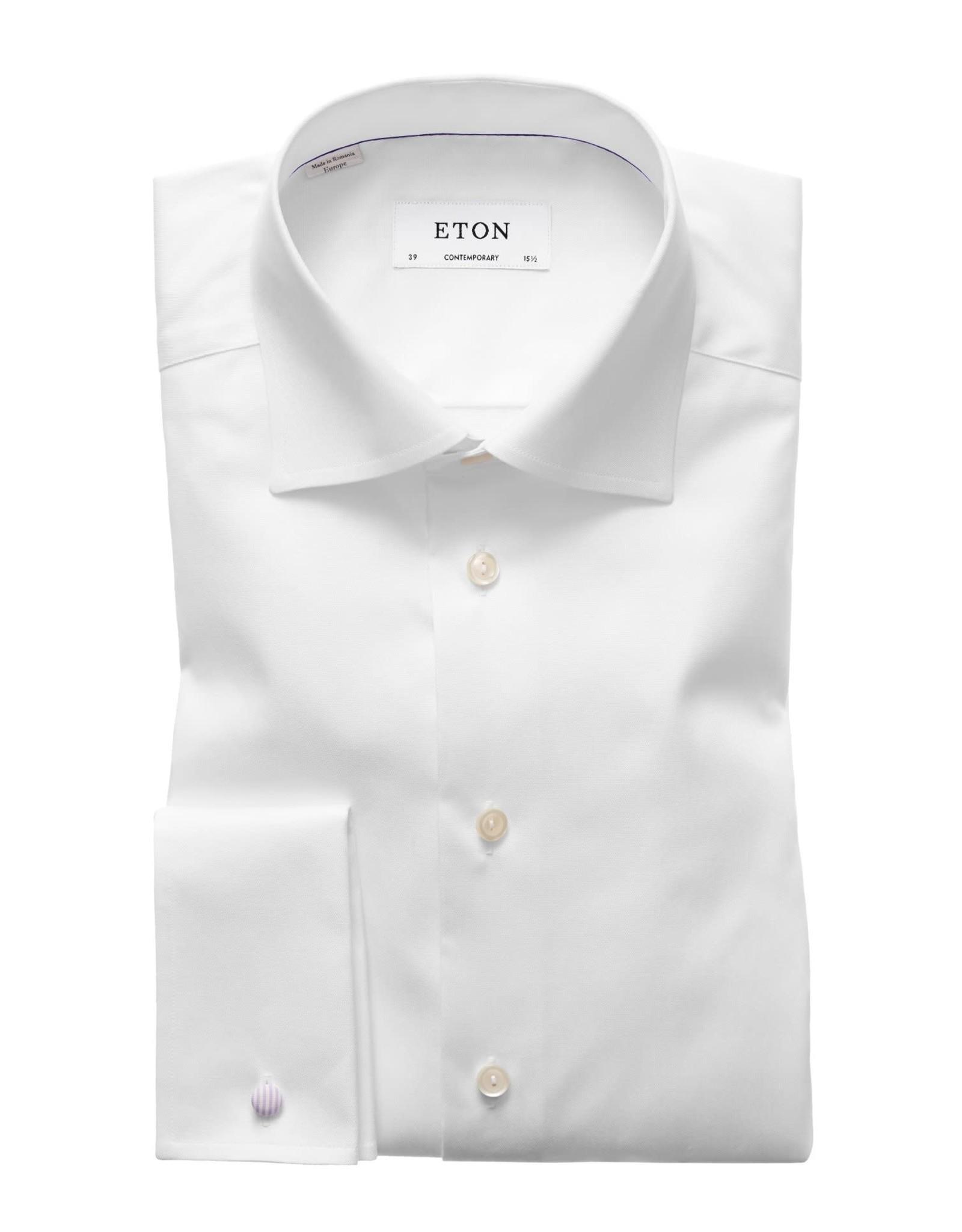 Eton Eton hemd wit dubbel manchet contemporary 3000-79312/00