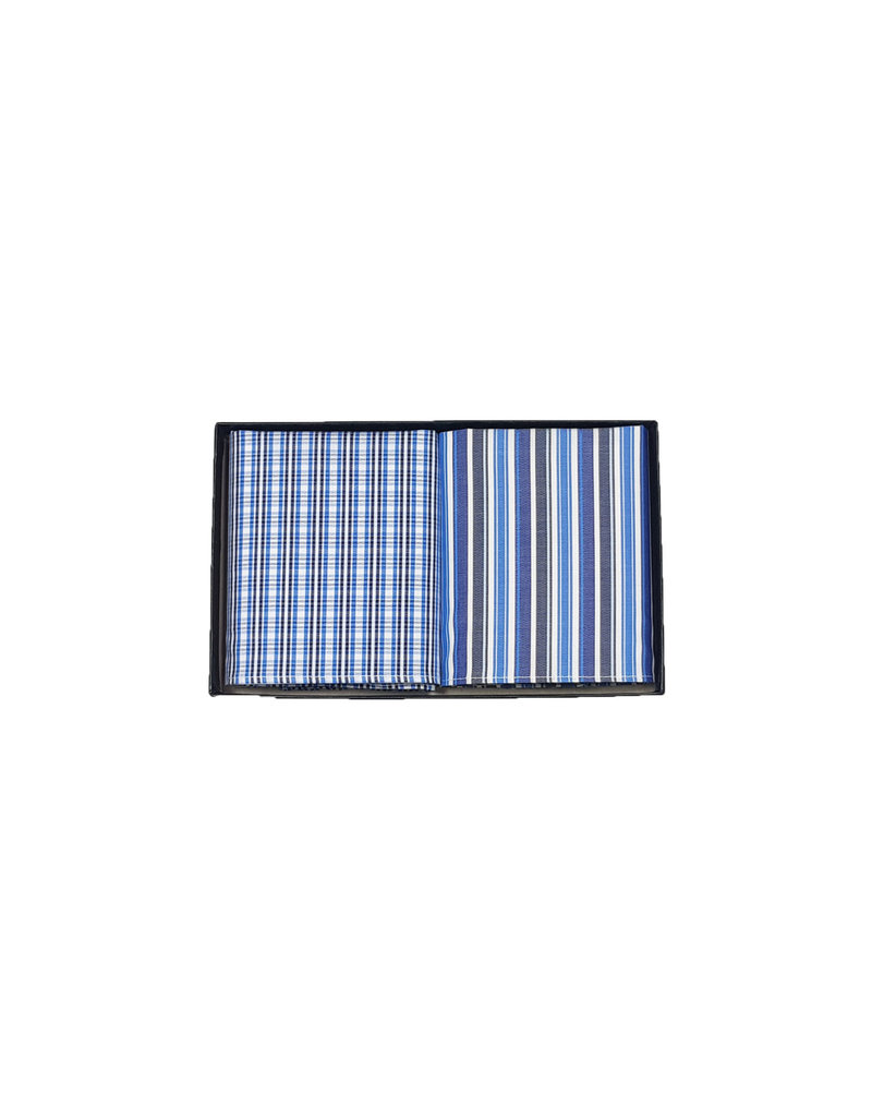 Leather Company Leather Company zakdoeken blauw SORT 25/20