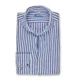 Stenströms Stenströms hemd linnen blauw Slimline
