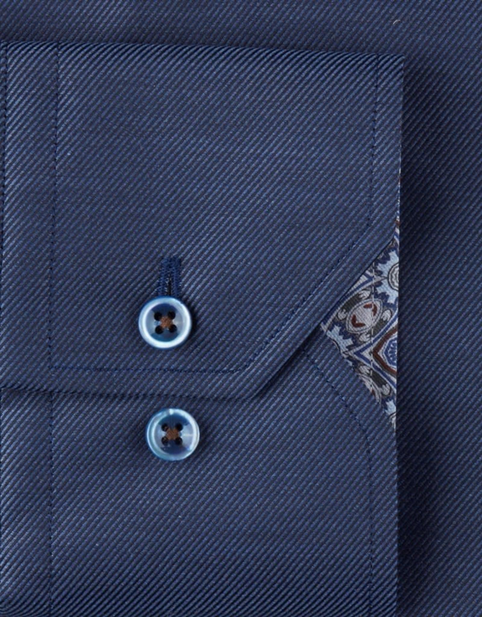 Stenströms Stenströms hemd blauw fitted body 684771-7616/180