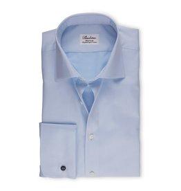 Stenströms Stenströms hemd blauw dubbel manchet fitted body