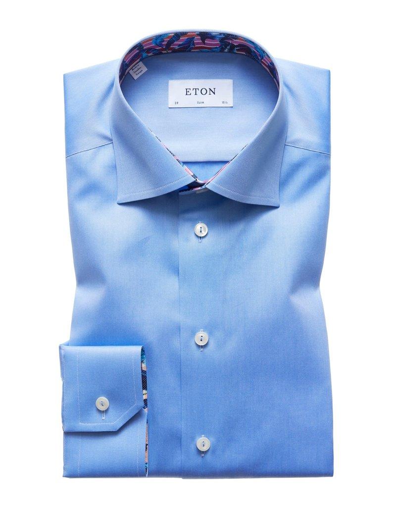 Eton Eton hemd blauw slim 3000-00689/23