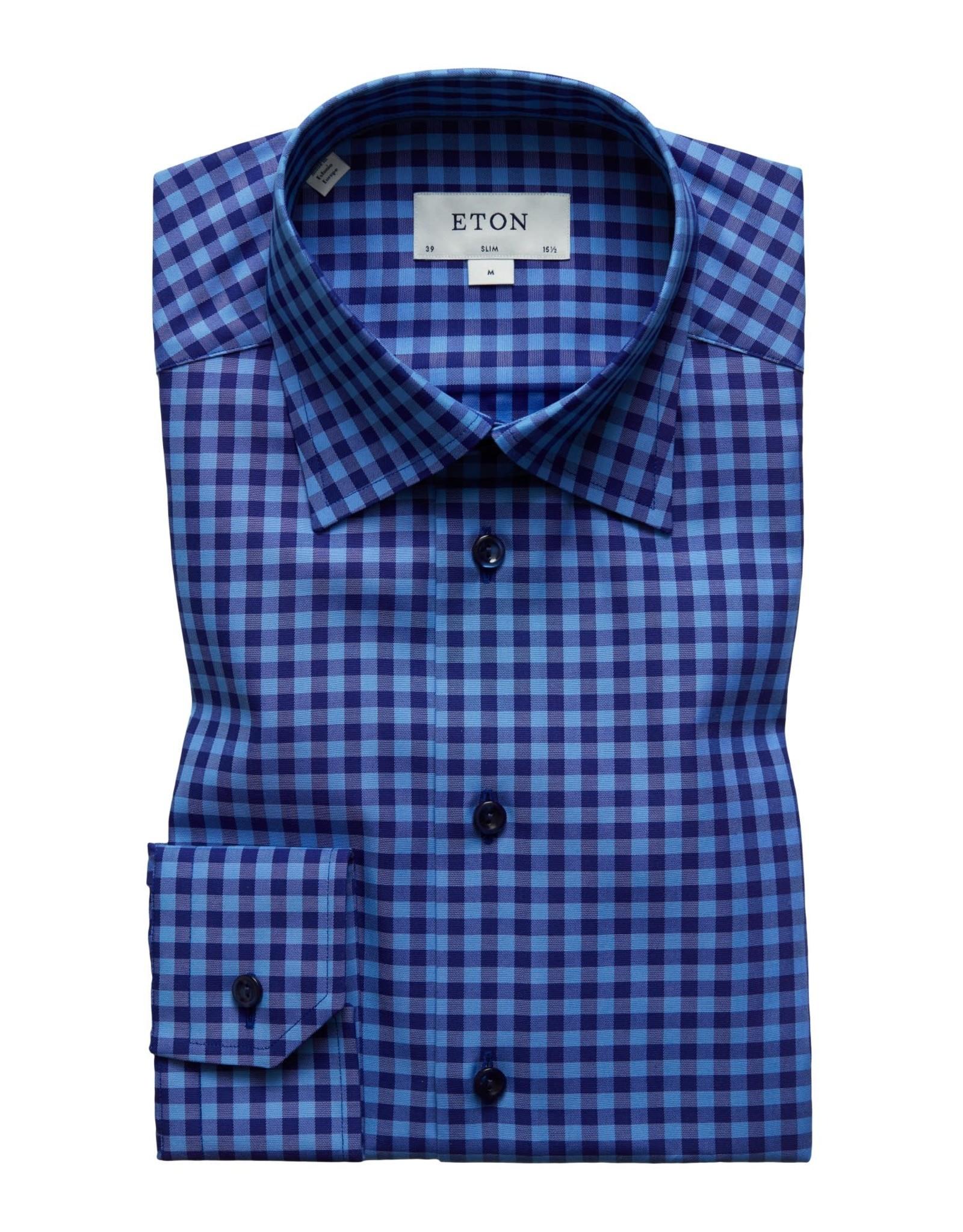 Eton Eton hemd blauw slimfit 3354-79544/25
