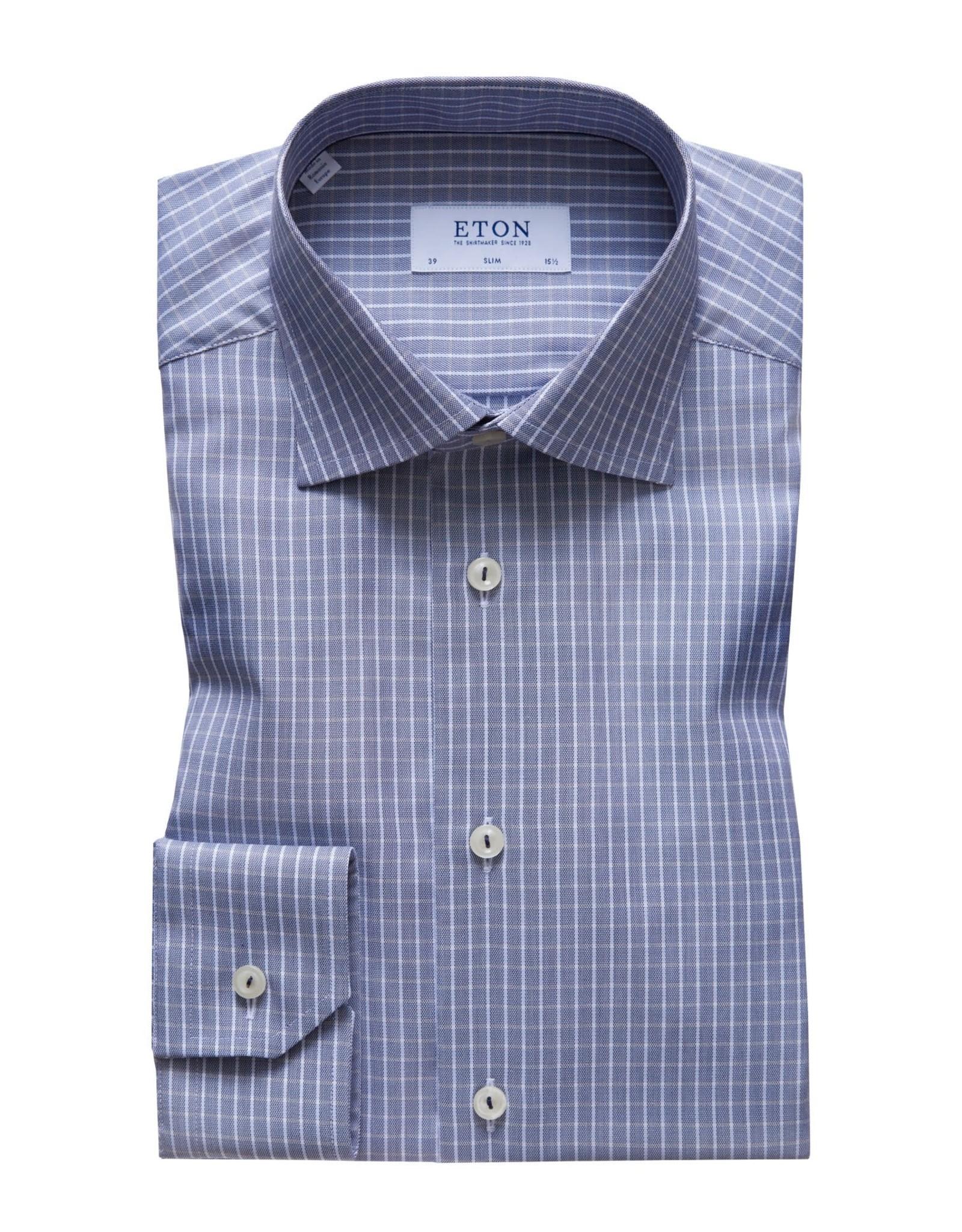 Eton Eton hemd grijs slim 3398-79607/29