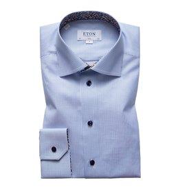 Eton Eton hemd lichtblauw gestreept Slim
