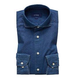 Eton Eton jeanshemd blauw slimfit