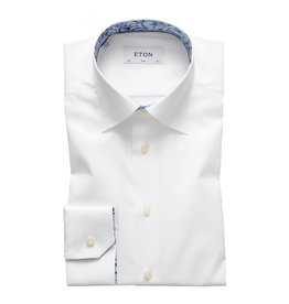 Eton Eton hemd wit slim contrast
