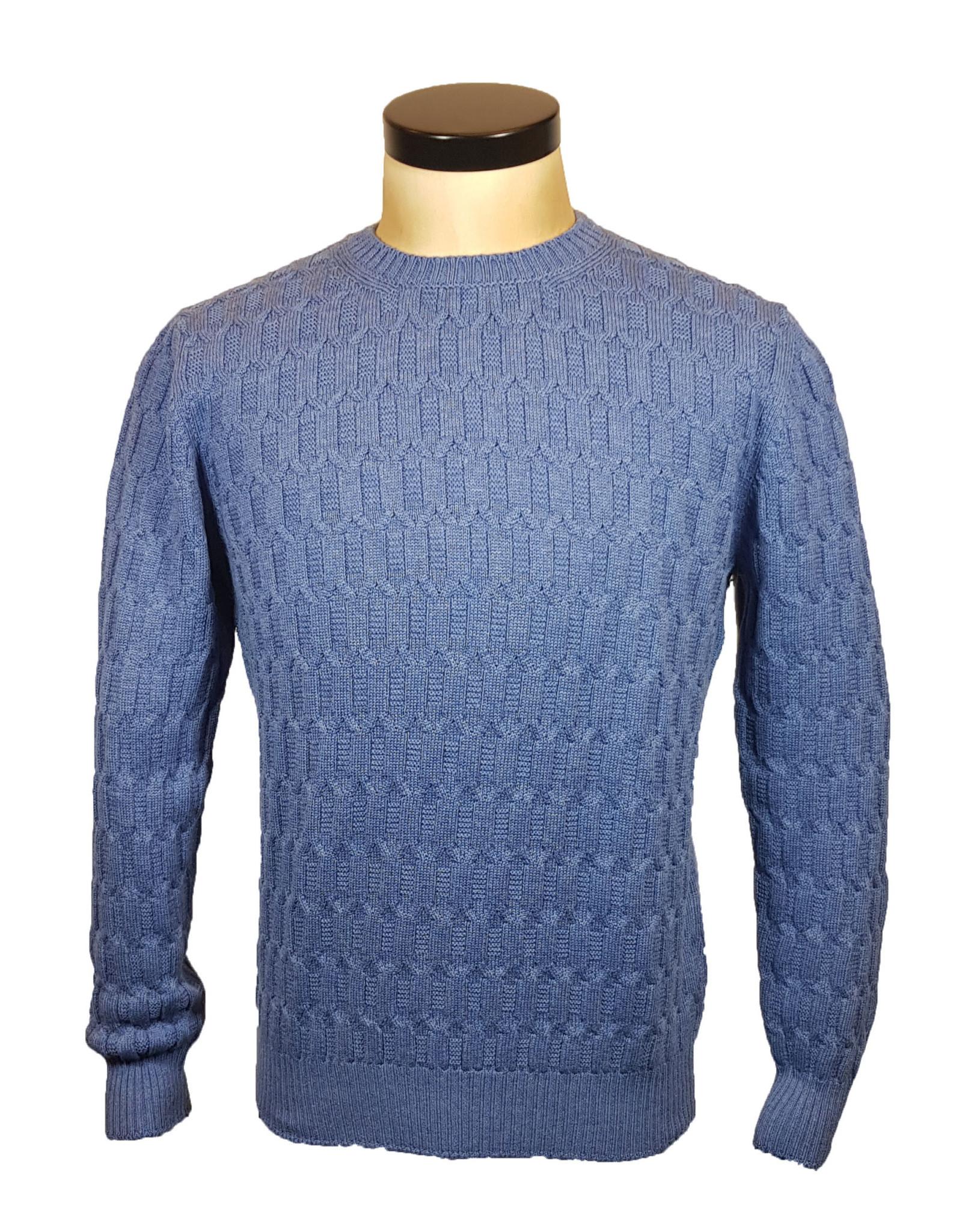 Gran Sasso Sandmore's pull O-hals blauw 14281