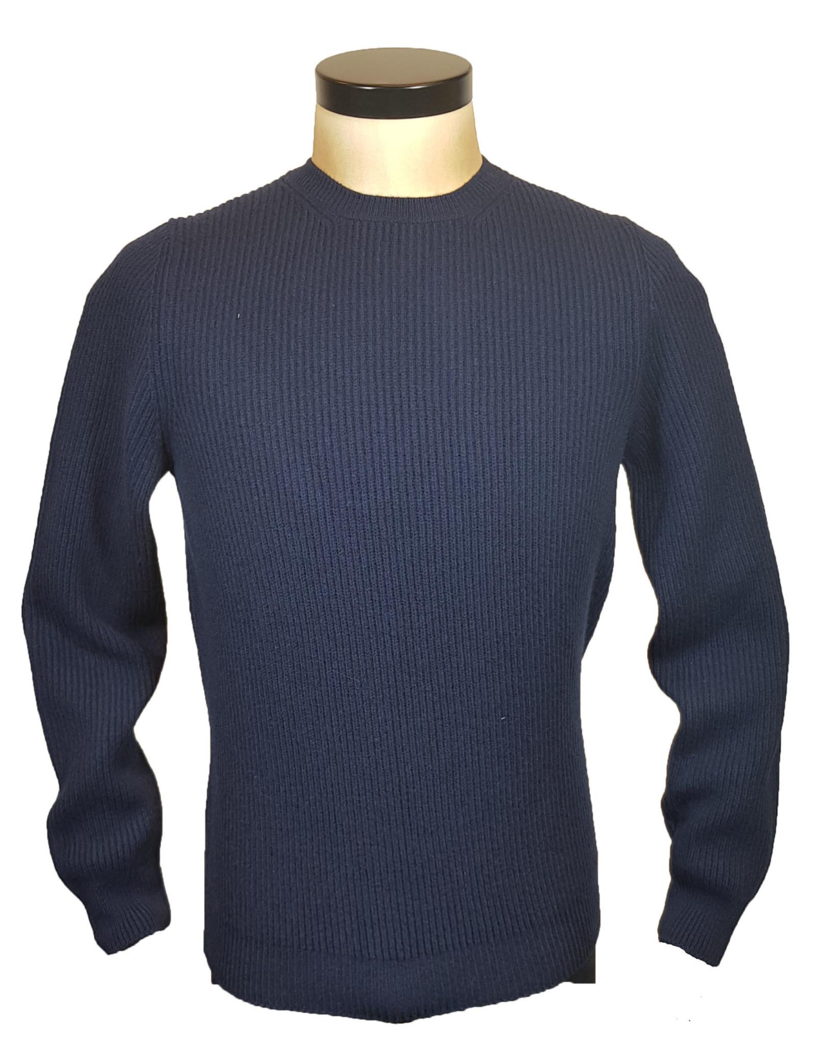 Gran Sasso Sandmore's pull O-hals blauw 19637