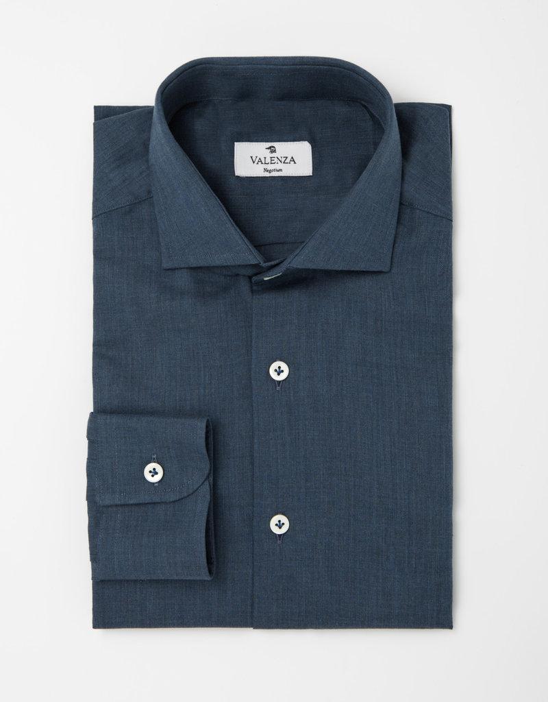 Valenza Valenza hemd blauw slim 005