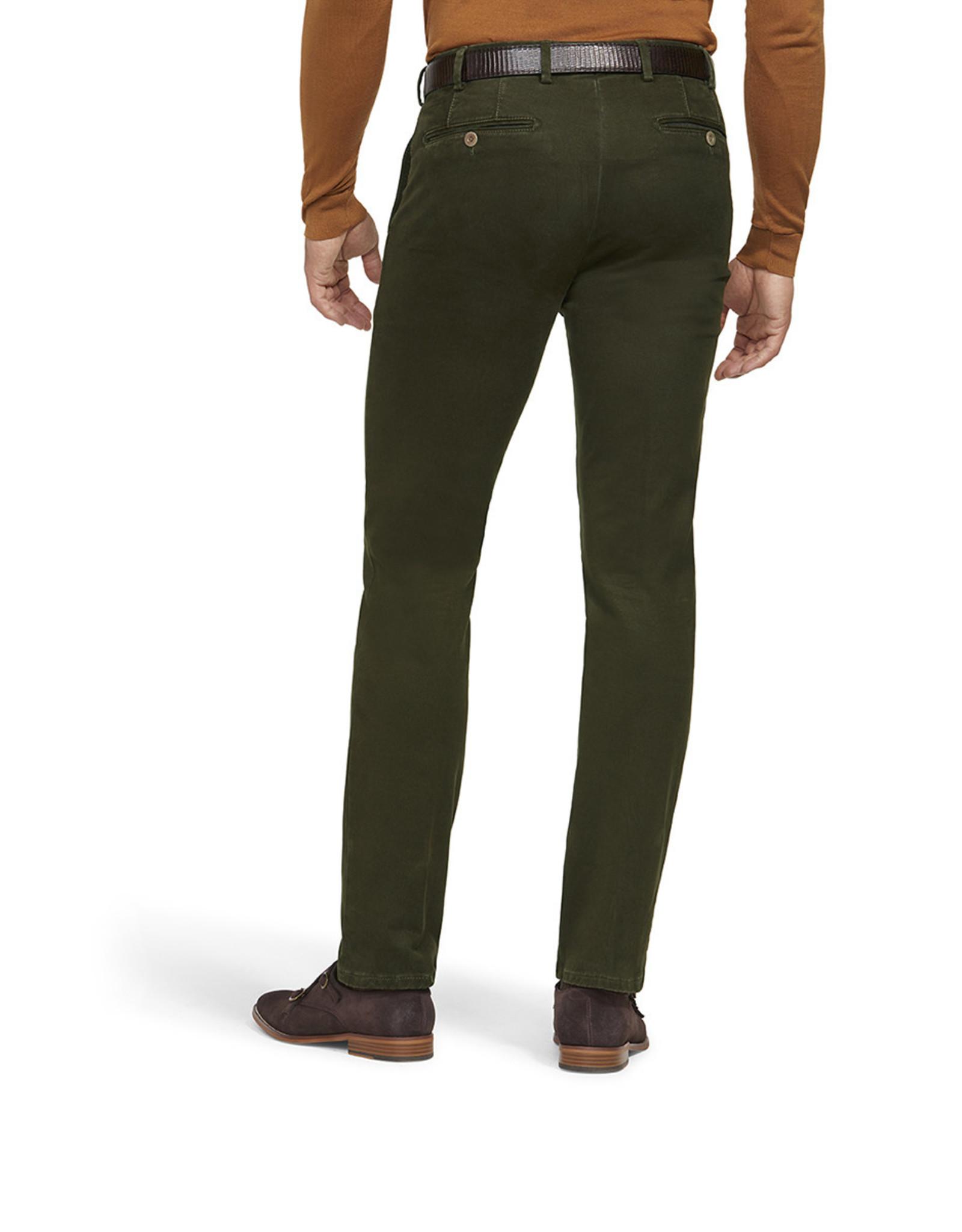 Meyer Exclusive Meyer Exclusive broek katoen groen Bonn 8556/24
