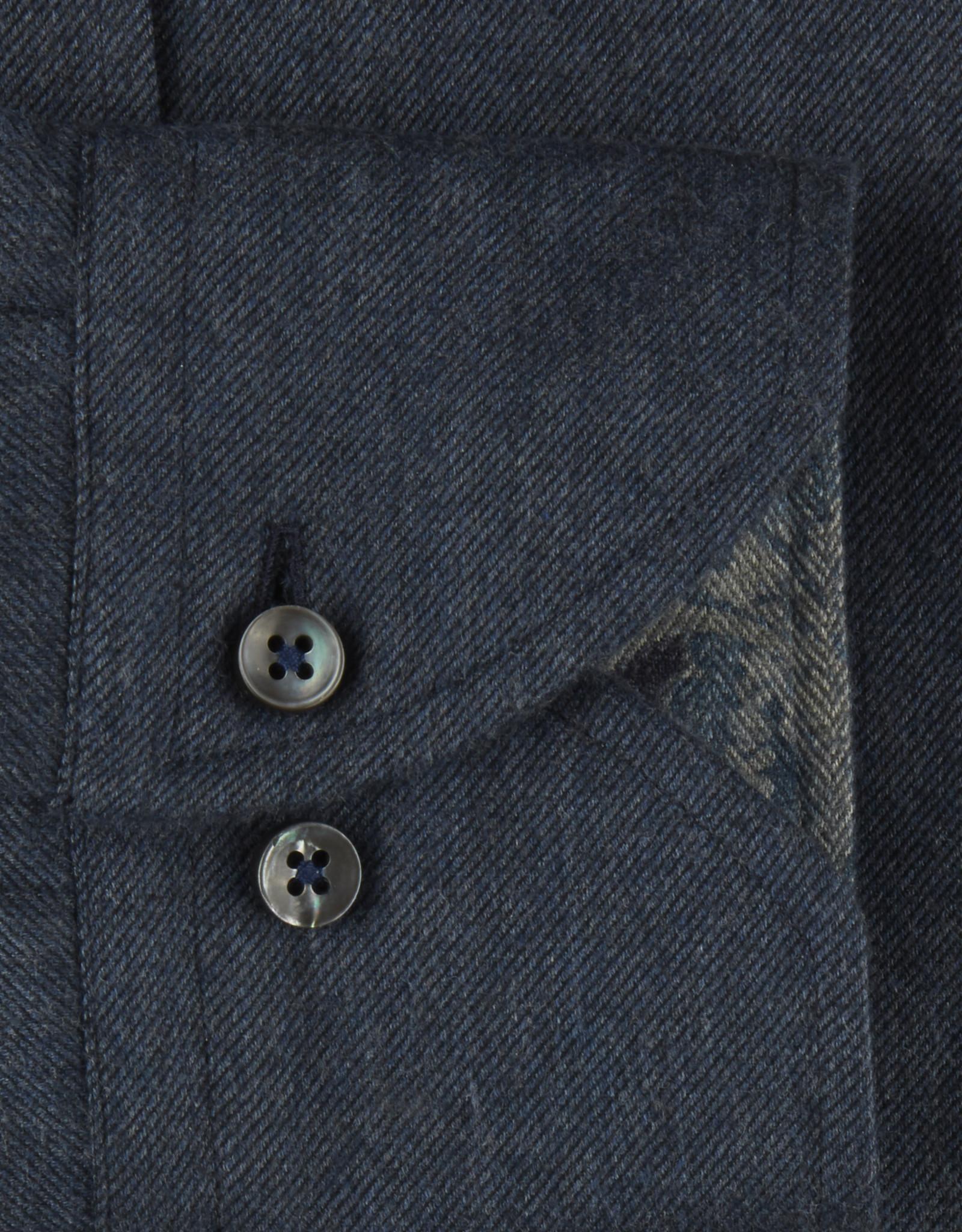 Stenströms Stenströms hemd donkerblauw fitted body 684261-7635/180
