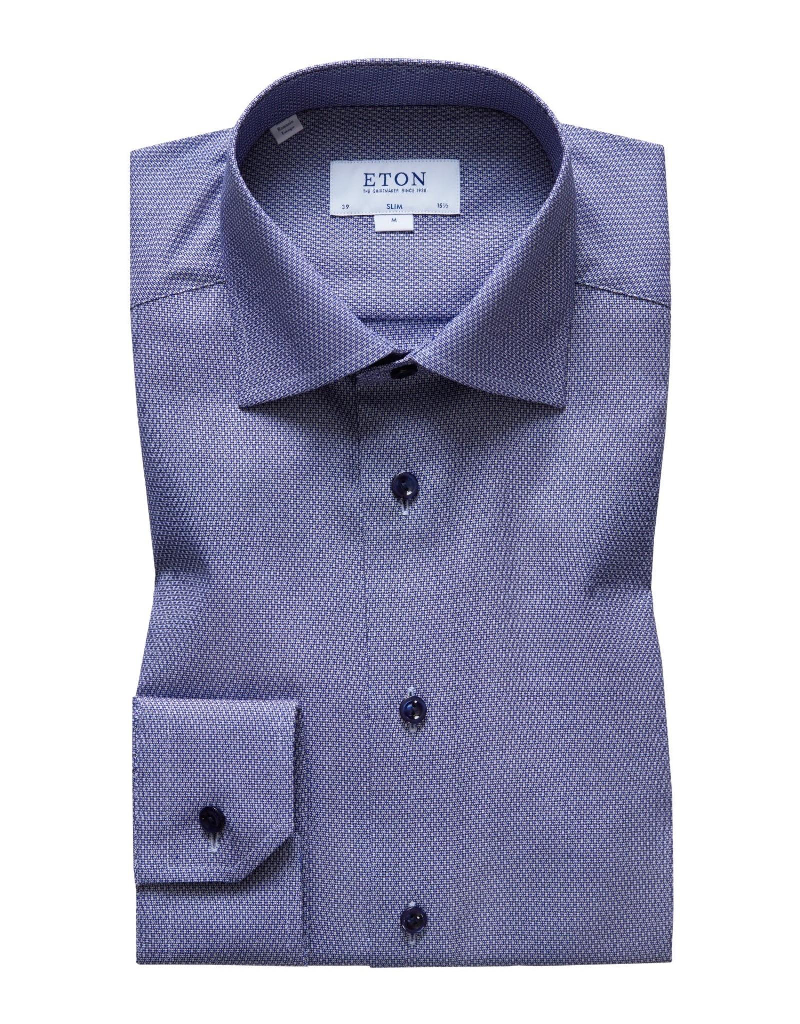 Eton Eton hemd blauw slim 4067-61544/27