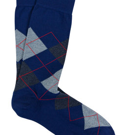 Marcoliani Marcoliani sokken blauw jacquard ruit
