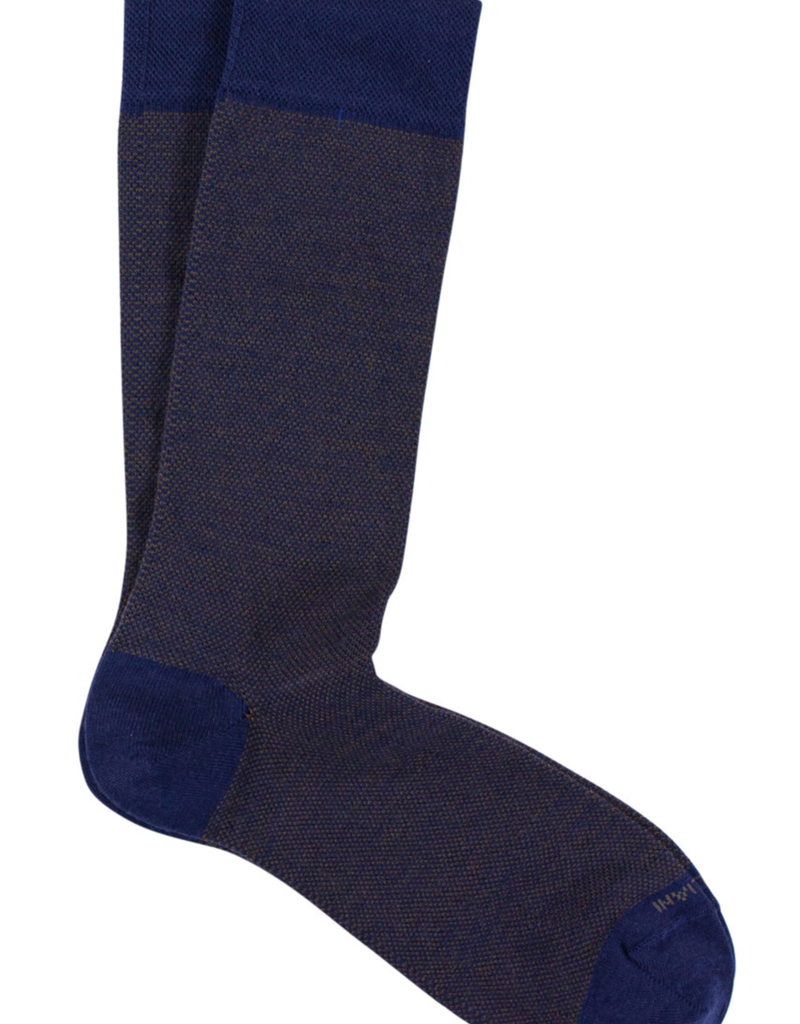 Marcoliani Marcoliani sokken blauw-bruin wol 4060T